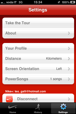 Nike+ GPS - I settaggi di base