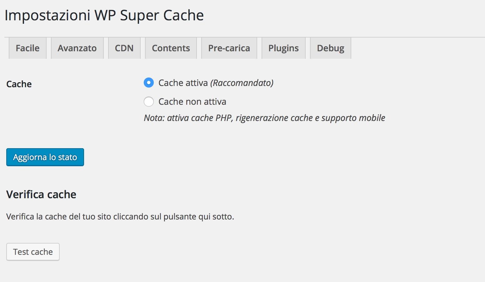 Plugin fondamentali: Wp-super-cache-wordpress